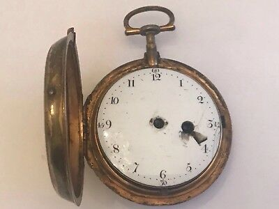 Georgian Fusee Silver Pocket Watch
