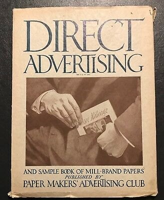 1918 Direct Advertising Magazine Printing Commercial Graphic Arts Paper Manuf.
