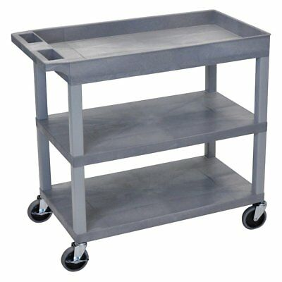 Luxor High Capacity 2 Flat and 1 Tub Shelf Cart
