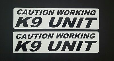 CAUTION WORKING K-9 UNIT MAGNETIC SIGNS car truck Van SUV Police Dog