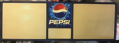 HUGE! 2' x 6'  Pepsi-Cola Menu Board Advertising Man Cave Memorabilia She Shack