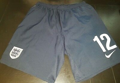 Nike England team gym Shorts Mens Challenge navy Football Soccer size L nr 12