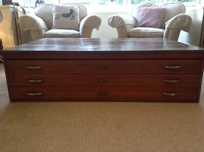 Vintage Plans Chest Coffee Table