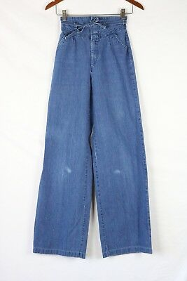 VINTAGE WOMENS PULSE BELLBOTTOM FLARE JEANS Sz 7 Fits 22x33