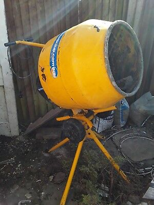 Belle Minimix 130 Electric 230v Concrete Cement Mixer + Stand - Used