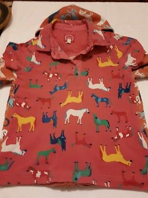 small bundle Joules/ mini Boden girls horses and dogs print age 5