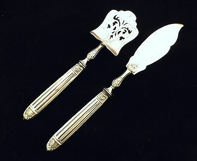 Antique Sterling Silver French Cake Or Cheese Servers