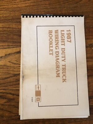 1988 chevrolet light duty truck wiring diagram booklet 1995 1987 gmc light duty truck wiring diagrams manual booklet asfbconference2016 Gallery