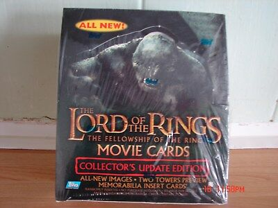 lord of the rings fellowship update movie cards 2002 topps rare sealed