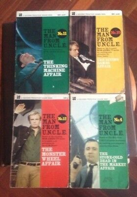 The Man From Uncle Novels X 5 No`s 4, 7, 10 ,11, 12