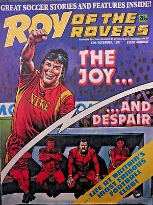 Roy Of The Rovers Comic 12/12/1987 Vintage Rare Vgc