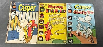 Casper & Wendy Comic Lot of 3 The Friendly Ghost #7 #160 The Good Witch # 43 VTG