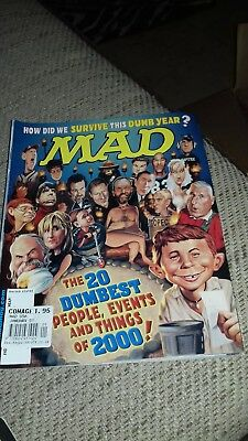 Mad Magazine #401 Dumbest People Events of 2000
