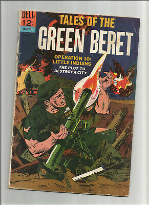 Tales Of The Green Beret #2 {Mar 1967 Dell} Silver Age! Vg Viet Nam Warfare!