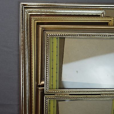 Vintage Matching Brass Gold Tone Metal Picture Frame Lot 8x10 5x7 3 1/2x5 Ornate