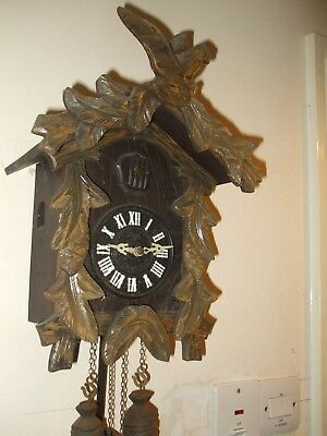 Old 'miken' Black Forest Style Cuckoo Clock For Spares Or Repair Made In Japan