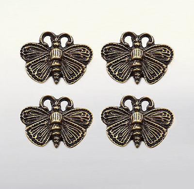 SET OF 4 PCS VINTAGE ANTIQUE WASP BEE Cabinet Door BRASS Pull KNOB Drawer