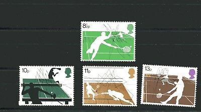 GB Stamps 1977 Racket Sports (SG 1022-1025) - MINT