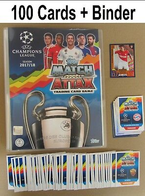 Champions League 17/18 Album + 100 Cards + Limited 2017/18 2017/2018 Match Attax