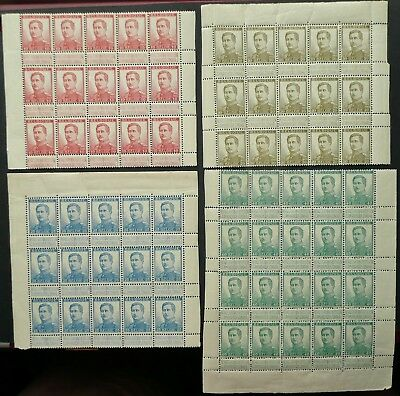 Belgium 1912-14 King Albert Blocks Of 15 & 20 Stamps - Mint - See!