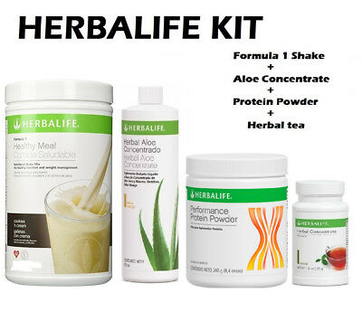 HERBALIFE KIT FORMULA 1 550g+ALOE CONCENTRATE+HERBAL TEA+ PROTEIN POWDER