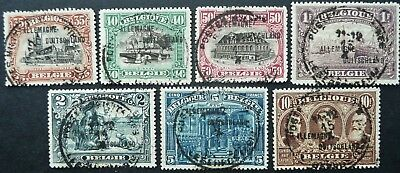 Belgian Occupation Of Germany 1919 Stamp Set - Fine Used - See!