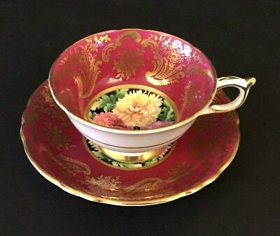 Vtg. Paragon Red Floral Tea Cup And Saucer - Fine Bone China, England