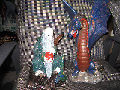 Collectible Medieval Fantasy Wizards, Dragons Sculptures Statues.