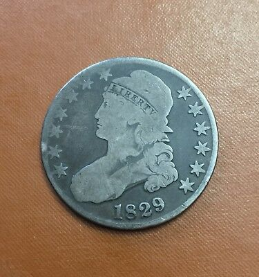1829 Capped Bust Half Dollar Nice Coin **True Auction** Starting At $0.99