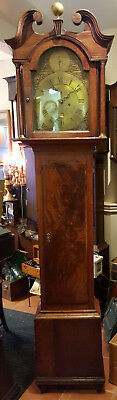 18thC Brass Faced Grandfather Clock Benjamin Lamb of London - Delivery arranged