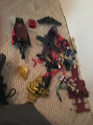 Huge lot of vintage Gijoe figures and vehicles 1982 + parts and pieces