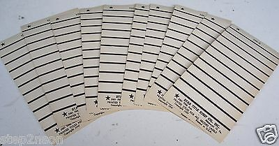 Wurlitzer Seeburg AMI 78 rpm jukebox record title strips 100 ORIGINAL 1947 USA