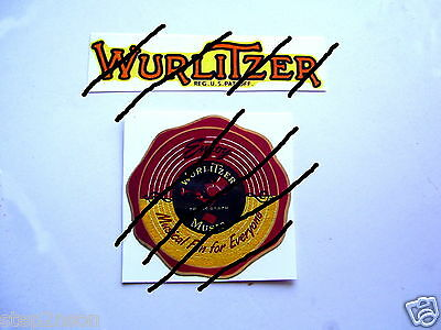 Wurlitzer Jukebox machine Water Release Decal + card Juke Box Vending Arcade USA