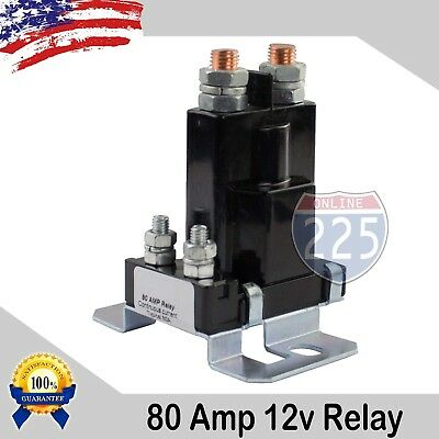 80 Amp Heavy Duty High Current Power Performance Dual Battery Isolator Relay US