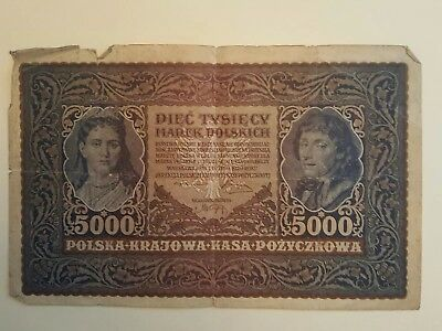 Lot of 4 Antique German Polish Paper Currency Money  - See Pictures