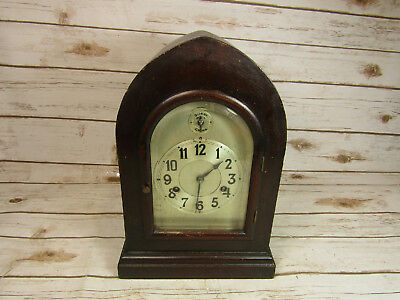 Vintage Antique Wurttemberg Silent Chime Mantle Clock With Key
