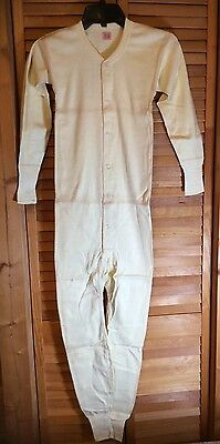 Vintage Long Johns Union Suit Hanes Heavy Weight Boys New Old Stock Sz 32