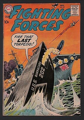 Our Fighting Forces #39 VG+ 4.5 Cream to Off White Pages