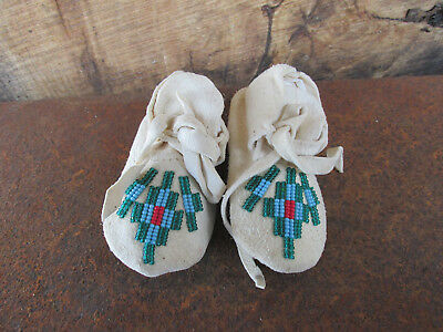 Native American  leather moccasins.