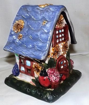 Blue Sky Clay Works Heather Goldminc Tealite Candle House Yellow Daisies
