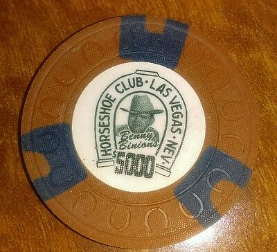 Binions Horseshoe Obsolete $5000 horseshoe mold casino chip