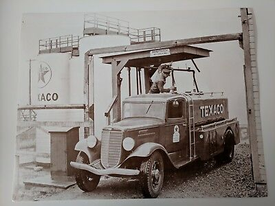 Vintage Texaco Gasoline Truck Photograph Print - 14 x 11 - Gas and Oil