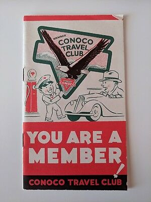 CONOCO TRAVEL CLUB Pamphlet - Gas and Oil Ad