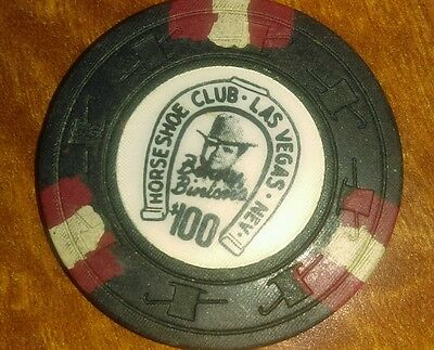 Binion's Horseshoe Casino Obsolete $100 Top Hat and Cane Mold Casino Chip