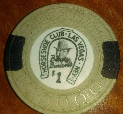 Binions Horseshoe Obsolete $1 horseshoe mold casino chip