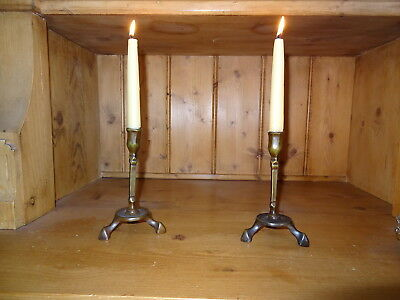 One Pair of Very Rare Antique Bar Candlesticks from 1700 -1725