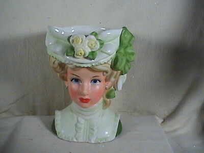 Extra Large Vintage 10 Napco Lady Head Vase 66986 Great 50s Look