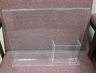 Clear Acrylic Sign Poster Holder With Brochure Pocket T-Style Display 10 x 12.5