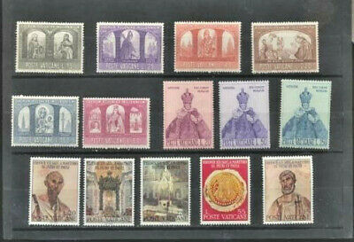 Vatican City Mint NH Complete Sets Collection 14 Different Pictorial Stamps