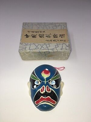 The Chinese Face Painting Mask In Blue W/ Box & Directions